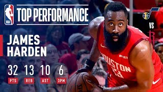 Download James Harden Notches His 3rd Career Playoff TRIPLE-DOUBLE | April 17, 2019 Video