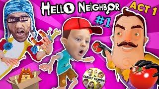 Download HELLO NEIGHBOR ACT 1 w/ FGTEEV HOBO JIM! NEW SECRETS in BASEMENT! FINAL FULL GAME (#1) Video