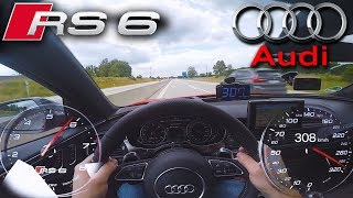 Download Crazy RS6 Performance on German Autobahn ✔ Video