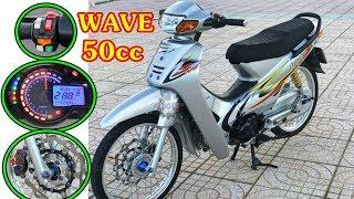 Download Xe độ đẹp - Wave 50cc độ kiểng của học sinh lên đồ chơi banh nóc Video