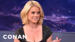 Download Alice Eve Explains Differences Between American & UK Dating - CONAN on TBS Video