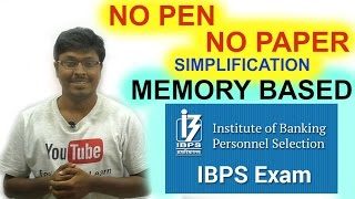 Download IBPS CLERK PRELIMS 2016 ( Memory Based ) Video