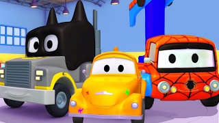 Download Tom the Tow Truck's Paint Shop and the Superheroes Batman, Spiderman, Hulk, Iron Man & Avengers Video