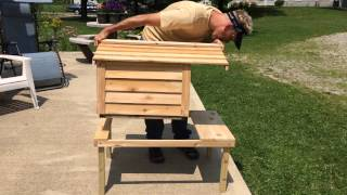 Download Insulated Cedar Cat-House Assembly-Our cats love this house!!!!!!!!!! Video