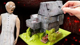 Download Making GRANNY FULL MINIATURE HOUSE in Polymer Clay! Video