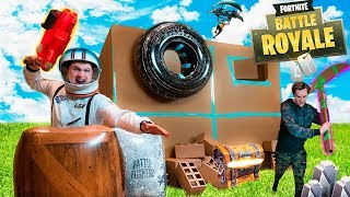Download FORTNITE IN REAL LIFE BOX FORT!! 📦⛏Fortnite Nerf War Challenge! Video