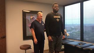 Download 6' 7″ 300 LB Football Player Adjusted By 6' 239 LB Old Man Strength Houston Chiropractor Video