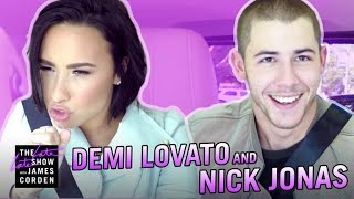 Download Demi Lovato & Nick Jonas Carpool Karaoke Video