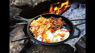 Download Cast Iron Cookin Midday Breakfast - Camp Cooking Video