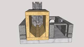 Download 3D animation of building up the Batch Rocket Stove Video