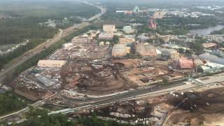 Download Aerial Flyover of Star Wars Land & Toy Story Land Construction - Hollywood Studios 4/4/17 Video