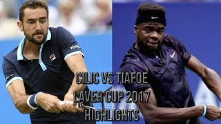 Download Marin Cilic Vs Frances Tiafoe - Laver Cup 2017 (Highlights HD) Video