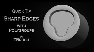 Download Quick tip tutorial: Creating crisp edges using Polish by Groups in Pixologic ZBrush 4R6 Video