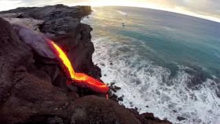 Download 8 - 09 - 16 Hawaii Lava Flow Ocean Entry - Gopro Video