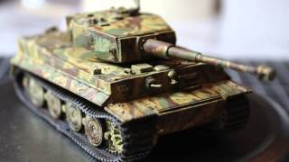 Download Panzer Tiger 1 Tank (Late w/ Zimmerit) 1:72 model Video