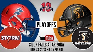 Download 2018 IFL Playoffs | Sioux Falls Storm at Arizona Rattlers Video