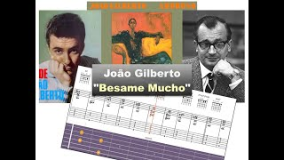 Download Joao gilberto ″Besame Mucho″ (Amoroso 1977) - Virtual Guitar Transcription by Gilles Rea Video