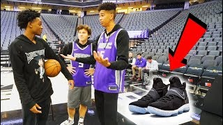 Download 1v1 BASKETBALL WAGER vs. Future NBA SUPERSTAR De'Aaron Fox! LOSER BUYS ANY NIKES! Video