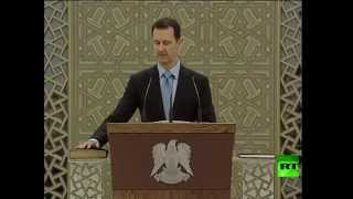 Download الرئيس السوري بشار الأسد يؤدي اليمين الدستورية لولاية رئاسية جديدة مدتها 7سنوات Video