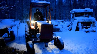 Download Tractor T-25 Cold Start -5C Degrees (1080p) Video
