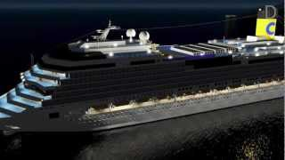 Download 3D Costa Concordia sinking - L'affondamento Video