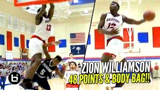 Download Zion Williamson Scores 48 & SONS Defenders!! 2000 Career Points! Full Highlights Video