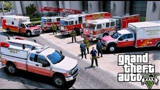 Download GTA 5 Firefighter / Paramedic Mod - New Vinewood Hills Fire Department & EMS Pack Video