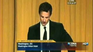 Download Seth Meyers Destroys Donald Trump @ White House Correspondents Dinner 5/1/2011 Video