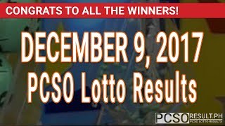 Download PCSO Lotto Results Today December 9, 2017 (6/55, 6/42, 6D, Swertres, STL & EZ2) Video