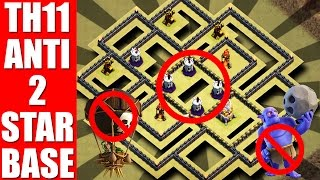 Download ANTI HIGH PERCENTAGE WITH REPLAYS | TH11 WAR BASE 2017 | AFTER BALANCE UPDATE Video