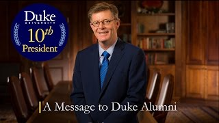 Download Duke's President-elect Shares a Message with Alumni Video