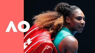 Download Simona Halep v Serena Williams on-court warm up (4R) | Australian Open 2019 Video