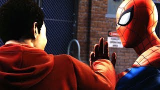 Download Spider-Man Meets Miles, but Miles Punches Him   Spider Man Ps4 Walkthrough Part 11 Scene Video