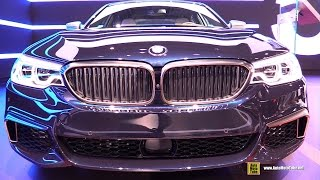 Download 2018 BMW M550i xDrive - Exterior and Interior Walkaround - 2017 New York Auto Show Video