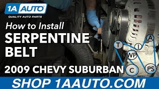Download How to Install Replace Serpentine Belt 2007-13 Chevy Suburban Video