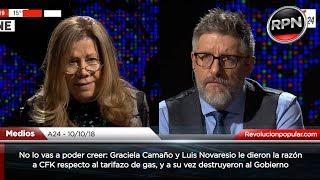 Download No lo vas a poder creer: Camaño y Novaresio LE DIERON LA RAZÓN A CFK por los tarifazos Video