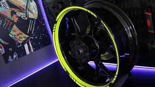 Download motoinkz fluorescent green wheel stripes tape Video