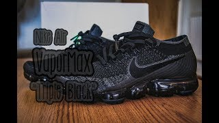 buy online 310a4 e40b5 Download Nike Air VaporMax FlyKnit ″Triple Black″   Unboxing   Review    Chris s Kicks