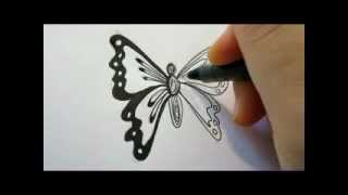 Download How To Draw A Butterfly - The Easy Way Video