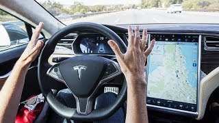 Download 2018 Tesla Model X Full-Self Driving TEST DRIVE - Amazing Autopilot System of Elon Musk ! Video
