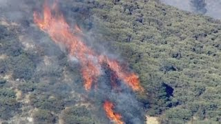 Download California wildfires: Aerial footage of wildfires raging in southern California Video