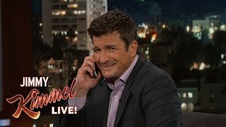 Download Nathan Fillion Calls Audience Member's Mom Video