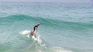 Download Skimming into small PERFECT waves w/ Skimboard & Bodyboard - Blair Conklin & Friends Video