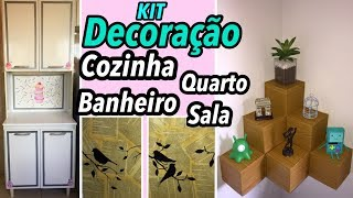 Download DIY KIT DE DECORAÇÃO PARA SUA CASA, SALA, QUARTO, COZINHA E BANHEIRO 😍 Video