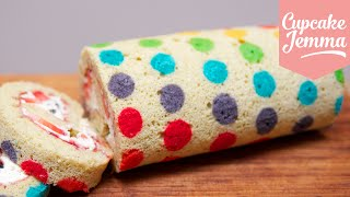 Download How to make a Rainbow Polka Dot Swiss Roll | Cupcake Jemma Video