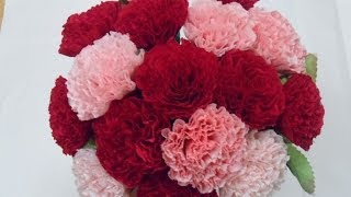 Download [Paper flower/종이꽃] 4. 주름지 카네이션 how to make crepe paper Carnation flowers, mothers day gifts Video