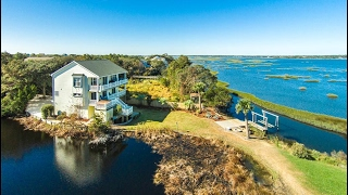 Download Waterfront Home with Panoramic Views in Surf City, North Carolina Video