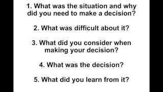 Download Interview Question Tell Me About A Time When You Had To Make A Difficult Decision Video