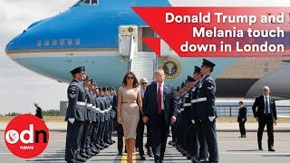 Download Donald Trump and Melania touch down in London Video