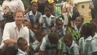 Download Prince Harry plants tree for Arbor Day fair in Antigua Video